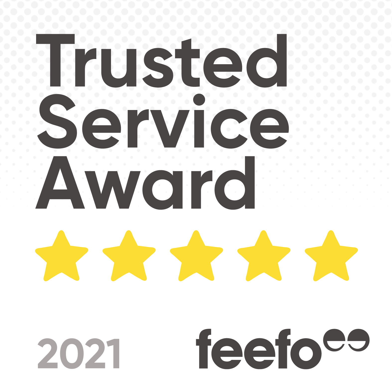 Feefo Trusted Service Award 2021